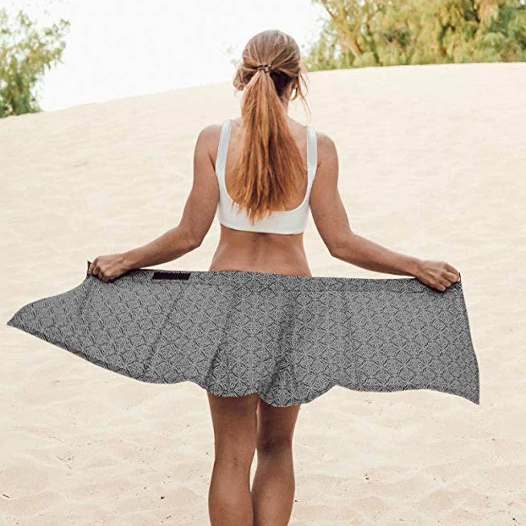 Clearance! Sunfei Women Print Quick Wrap Bikini Cover-up Multitasks Travel Lady Beach Summer Skirt (Black, Large) by Sunfei_Women Swimwear (Image #5)