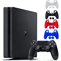 Sony Console Playstation 4-1TB Slim Edition Jet Black - PS4 with 1 DualShock Wireless Controller - Family Holiday Gaming…