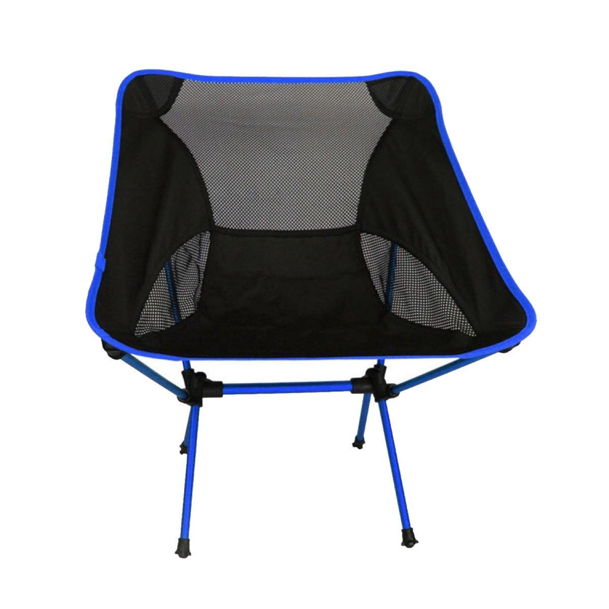 Outdoor Tragbar Leicht Mond Stühle Tragbar Klappstühle Luftfahrtaluminiumlegierung Angeln Stuhl Freizeit-Stühle,Blau