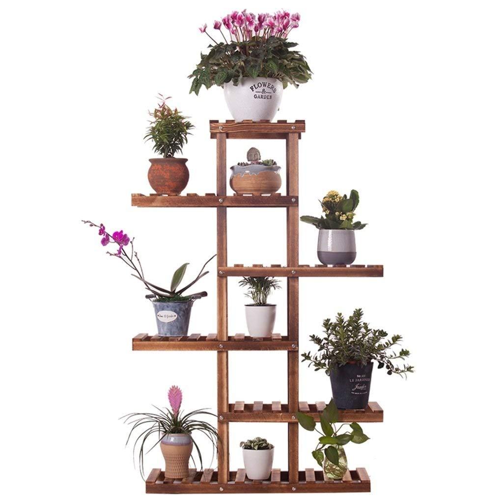 フラワースタンド垂直多階建ての庭の木製棚、屋内/屋外の植物のフラワースタンド、ポットラック、75 x 25 x 110 CMリビングルームのバルコニーの装飾 B07QFHLTN9