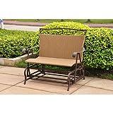 Wicker Resin/Steel Single Hanging Patio Chair Swing For Sale