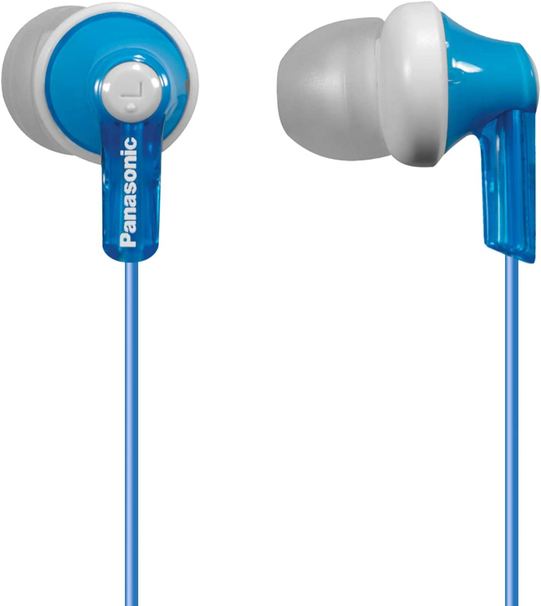 Panasonic ErgoFit in-Ear Earbud Headphones RP-HJE120-AA Metallic Blue Dynamic Crystal-Clear Sound Ergonomic Comfort-Fit