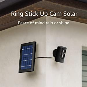 Ring Stick Up Cam Solar HD security camera with two-way talk, Works with Alexa - Black