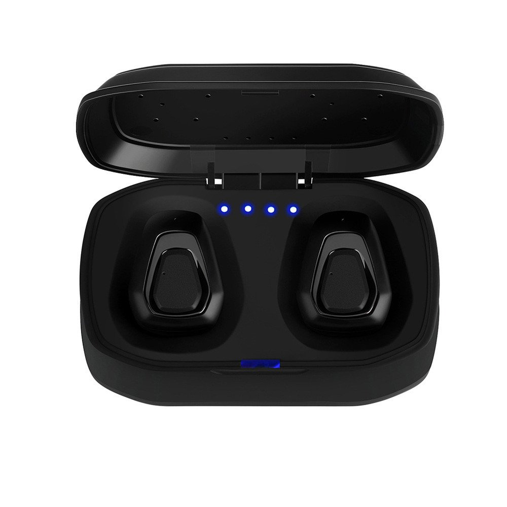 in-Ear Stereo Headphones,Roisay TWS-A7 Mini True Wireless Sport Earbuds Headset Bluetooth HiFi Freedom Comfort Headphone Pure Sounds Built-in 300mAh Battery Box (Silver)