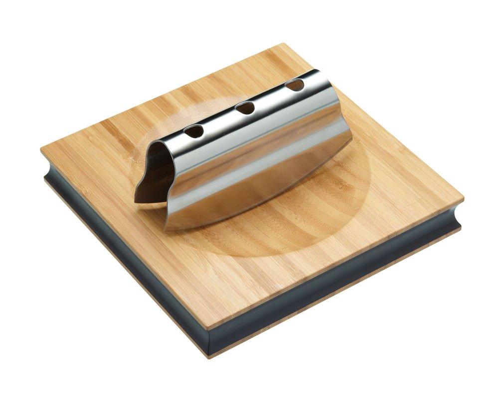 Kitchen Craft Java Mezzaluna & Board Set - 1-handed KitchenCraft