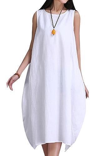 P Ammy Fashion -  Vestito  - Camicia - Donna Bianco bianco