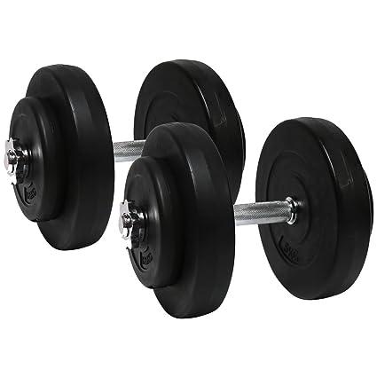 Charles Bentley aptitud cemento de 30 kg con mancuernas y pesas de gimnasio entrenamiento del ejercicio