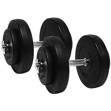 Charles Bentley aptitud cemento de 30 kg con mancuernas y pesas de gimnasio entrenamiento del ejercicio Spinlock: Amazon.es: Deportes y aire libre