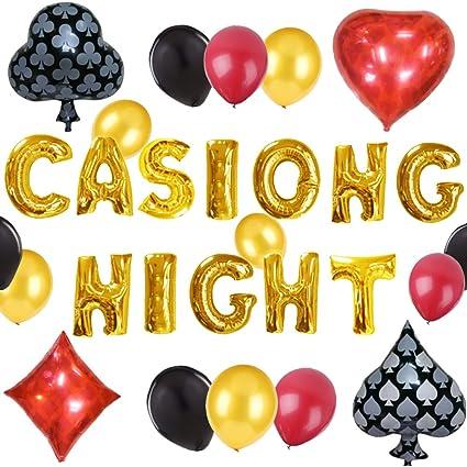 Amazon.com: LaVenty - Juego de 20 globos nocturnos de casino ...