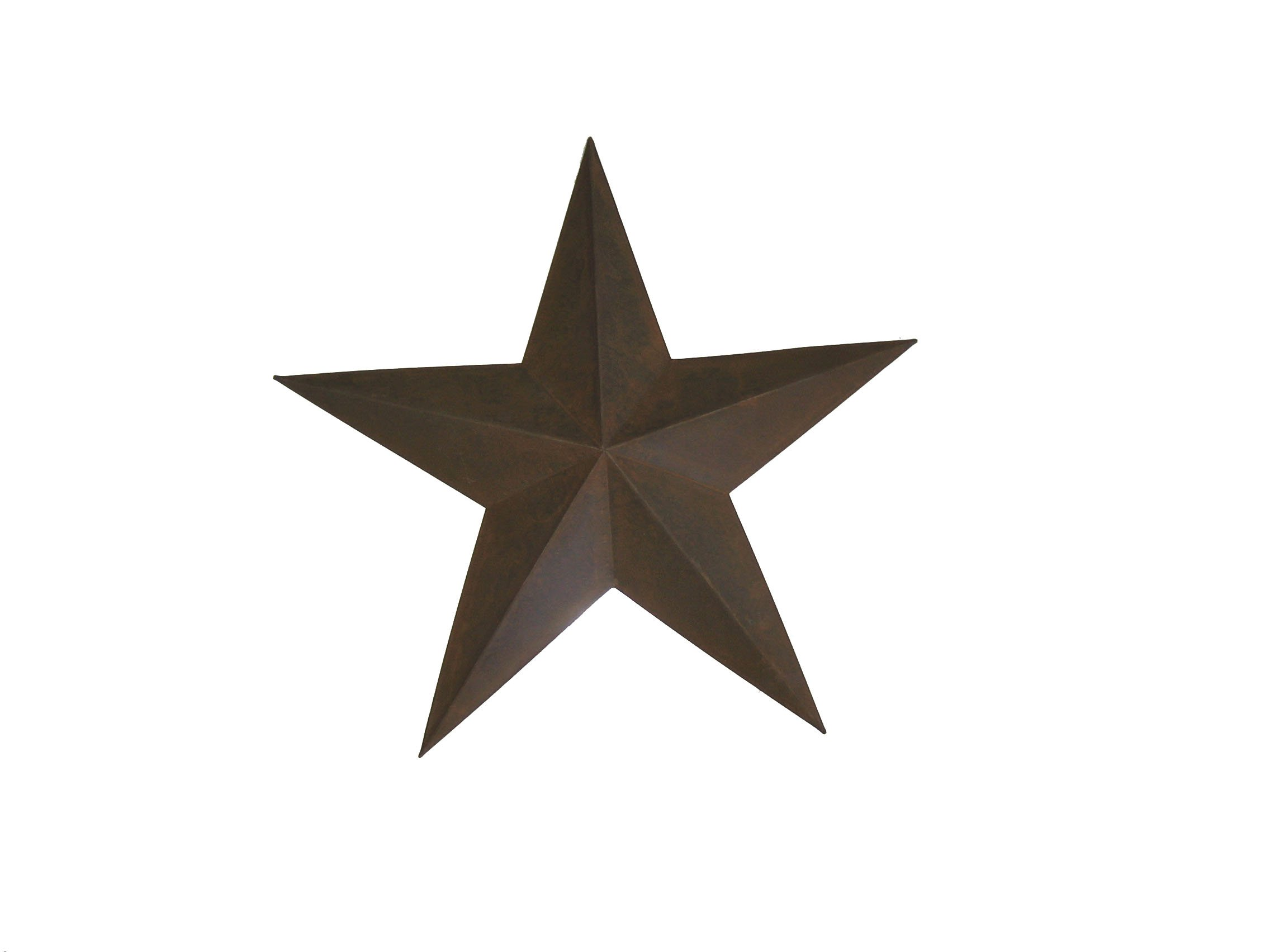Craft Outlet Tin Star Wall Decor, 24-Inch, Rust