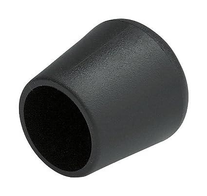 DealMux pl/ástico Mueble de casa Silla Tubo Pie Tacos Caps 8 mm Negro Fit Dia 10pcs