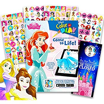 Amazon Com Disney Princess Coloring Book Pack With Stickers