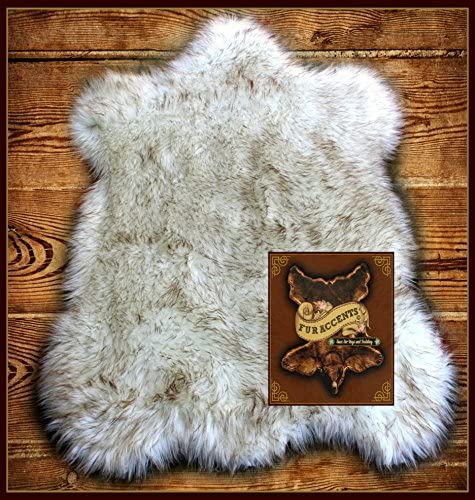 Fur Accents Area Rug Brown Tip Bear Faux Rug 30 x48