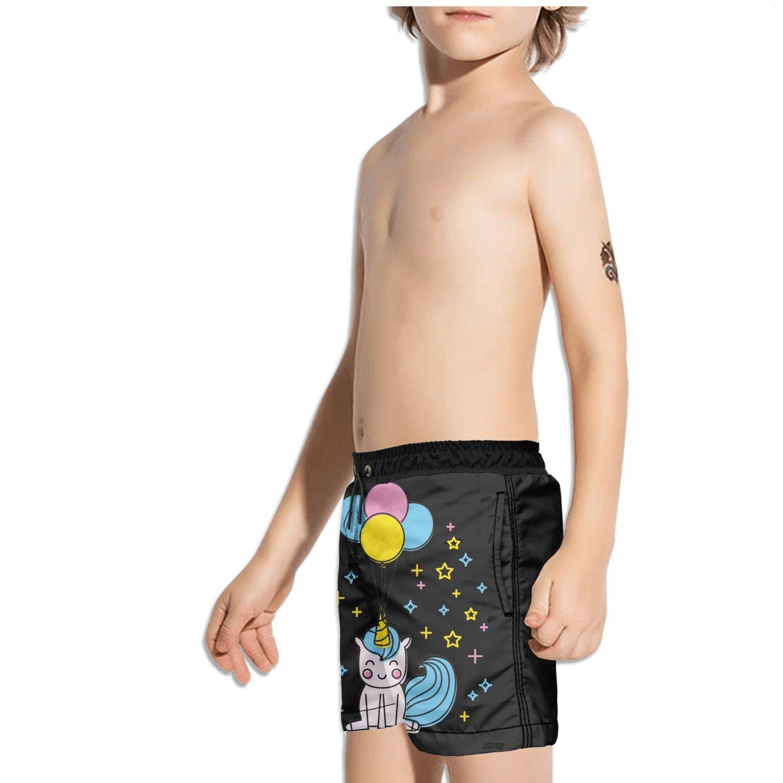 Ouxioaz Boys Swim Trunk Unicorn air Balloon Star Beach Board Shorts