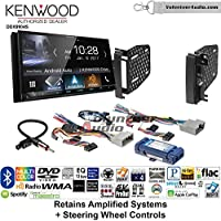 Volunteer Audio Kenwood DDX9904S Double Din Radio Install Kit with Apple CarPlay Android Auto Bluetooth Fits 2009-2010 Ram 2011-2014 Chrysler 200 (Retains Steering wheel controls)