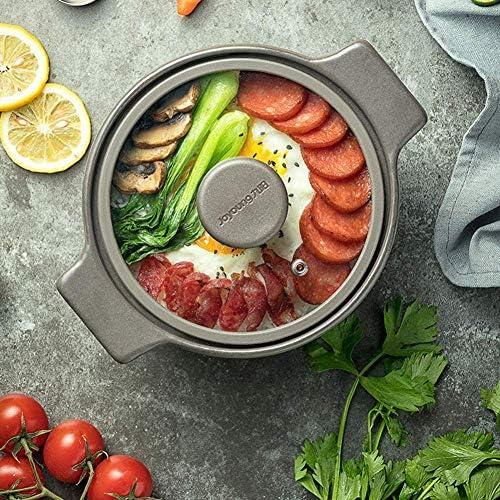 ZJZ Plats à la Casserole avec couvercles Casserole Pot Casserole Pot à ragoût Soupe Pot en céramique Riz Ménage Pot en céramique-3.5L