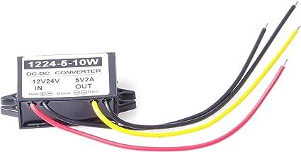 9-36V to 5V 10A 50W Step-Down Voltage Transformer Volt Regulator Power Supply Inverter Module Waterproof KNACRO DC-DC Buck Converter 12V 24V 36V