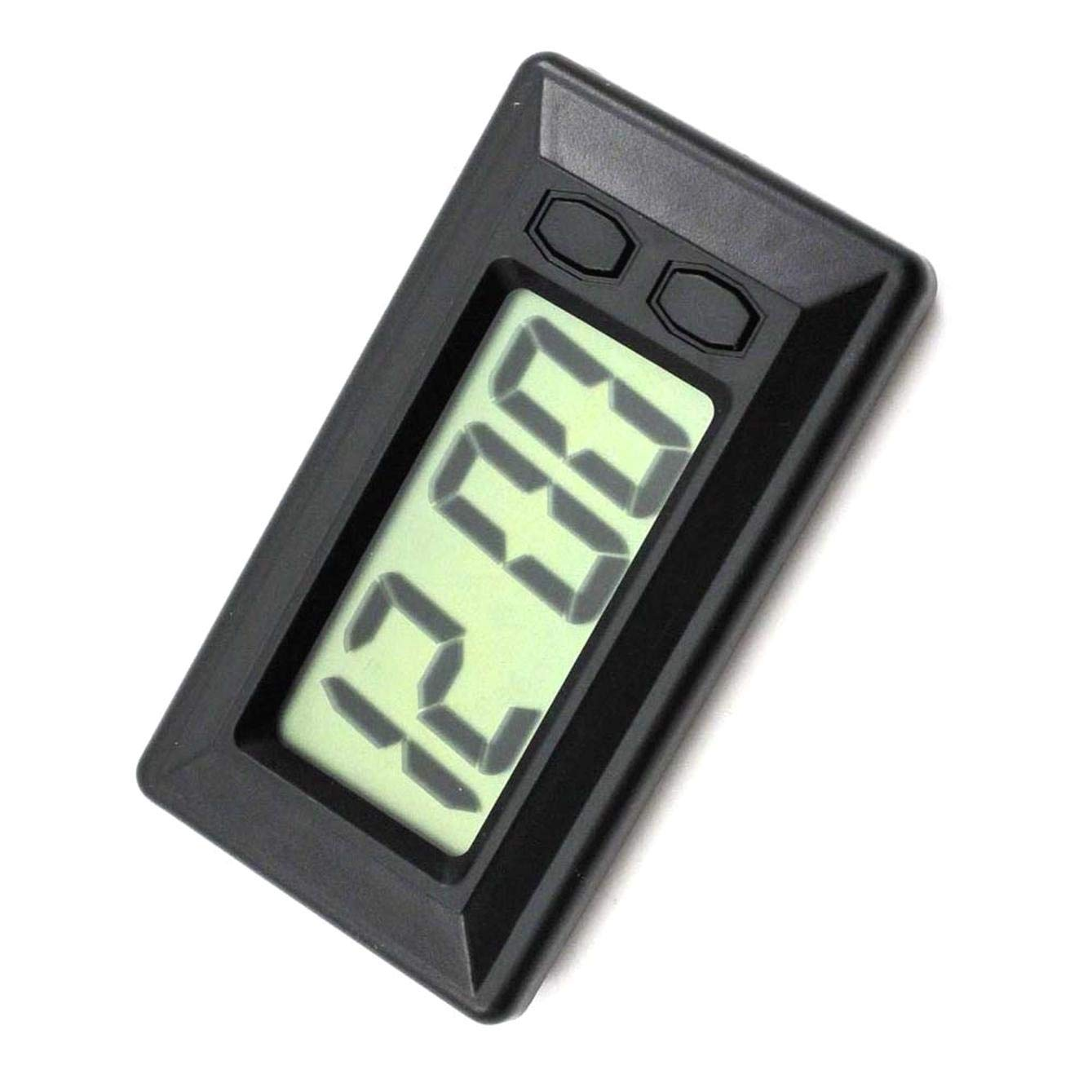 SALAKA 1PC Schwarz LCD Digital Display Auto Armaturenbrett Uhr mit Kalender