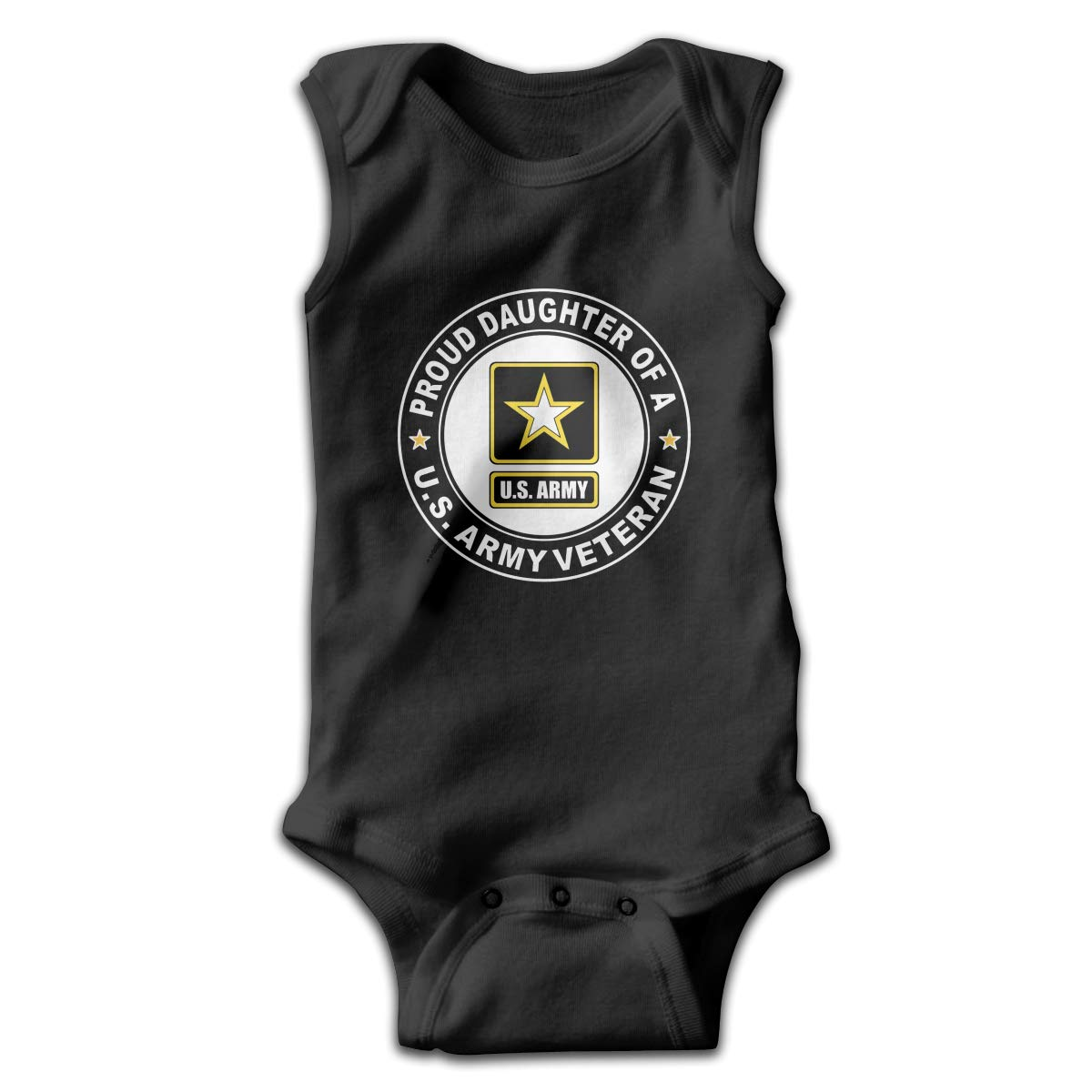 FAFU/&SKY Proud Daughter of A Us Army Veteran Toddler Baby Clothes Layette Sleeveless Summer Funny Gift for Baby