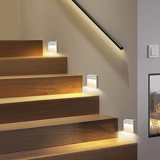 Aplique Pared Baño Escaleras Luces Led Lámpara De Pared Sala De Estar Pasillo Pir Morion Lámparas Del Sensor Batería Luz De Pared: Amazon.es: Iluminación