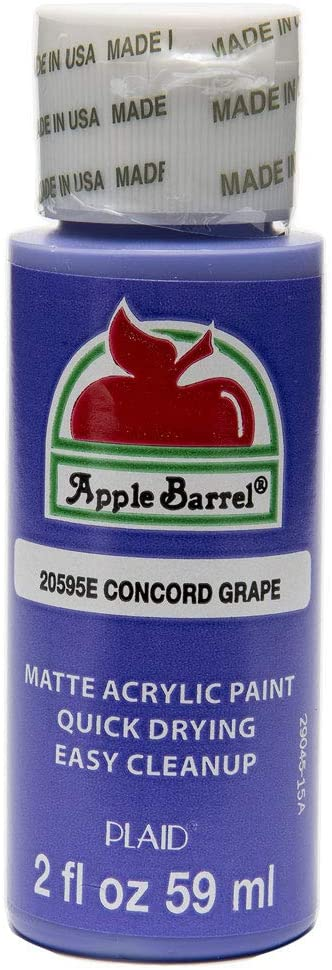 Apple Barrel Acrylic Paint in Assorted Colors (2 oz), 20595, Concord Grape