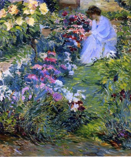 John Leslie Breck Woman in a Garden - 20.05