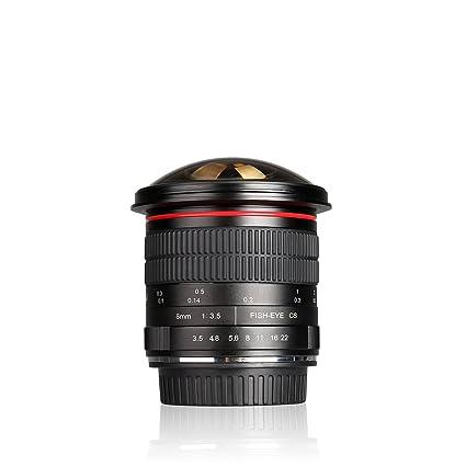 Meike MK- 8 mm F3.5 Ultra HD lente de ojo de pez para cámara ...