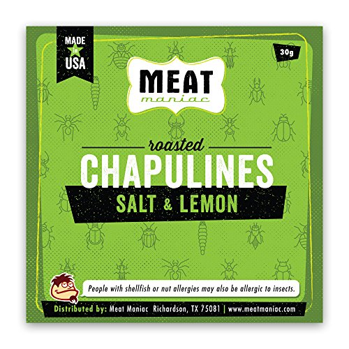 Meat Maniac Roasted Edible Insects (Salt & Lemon Chapulines 30g)
