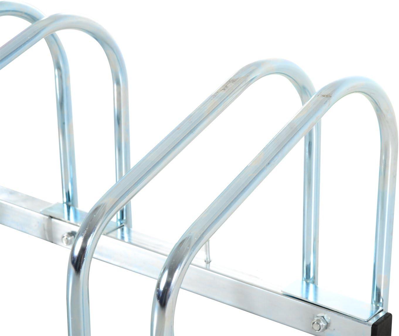 rack da pavimento o parete supporto di bloccaggio per sistemazione bicicletta Homcom/-/Supporto da bicicletta per parcheggio