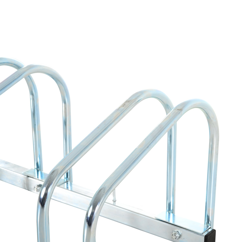 4 Racks, Black HOMCOM Bike Stand Parking Rack Floor or Wall Mount Bicycle Cycle Storage Locking Stand