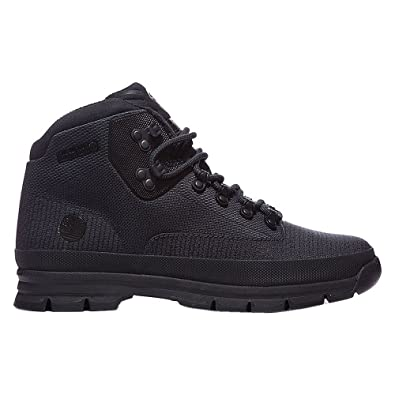 Timberland Mens Euro Hiker Jacquard Black Fabric Boots 75 US