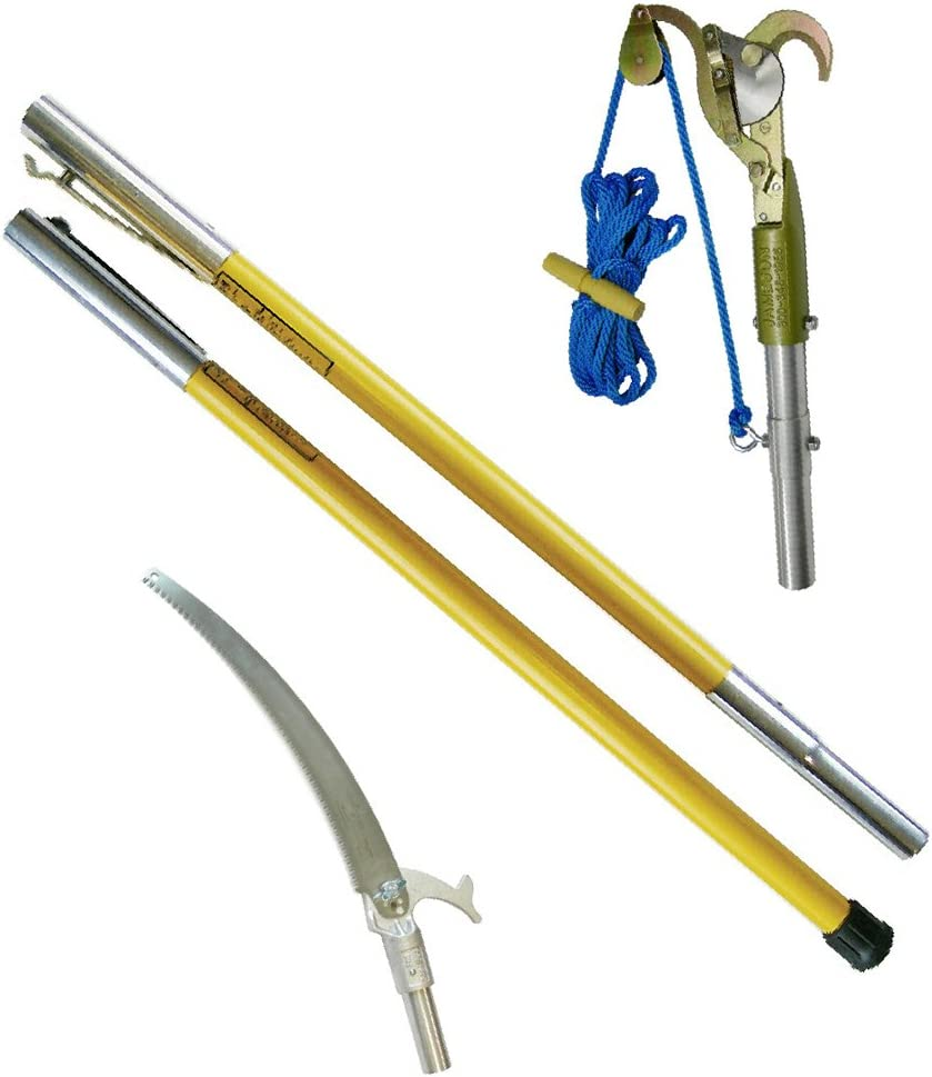 Jameson FG-6PKG-1 FG-Series Manual Pole Saw and Tree Pruner with Two 6-Foot Fiberglass Poles