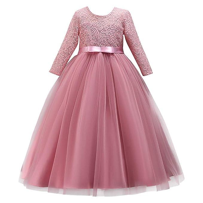 5b66eae3369e Vestiti del Vestito da Festa di Compleanno di Spettacolo di Nozze della  Principessa di Bowknot del