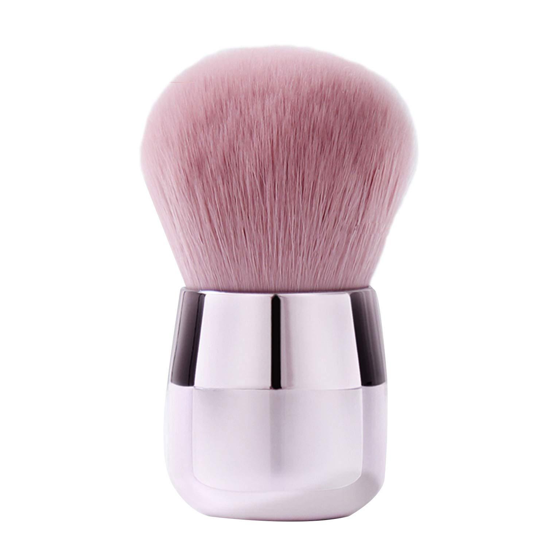 Kabuki Powder Foundation Brush Multi Purpose Make up Brush Perfect For Powder Liquid Cream Buffing Stippling Makeup Tools (Pink)