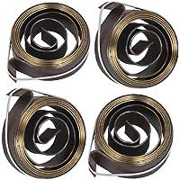 COMOK 4Pcs 6mm Width Metal Drill Press Quill Feed Return Coil Spring Assembly, 35 x 6mm