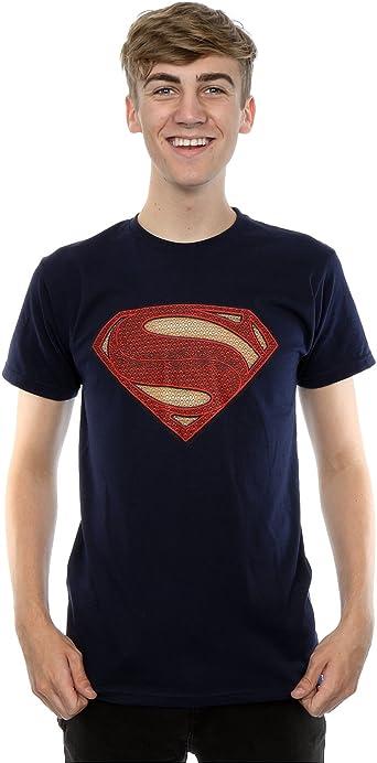 Superman Man of Steel Logo Licensed TV Movie DC Comics Navy Blue Mens T-shirt