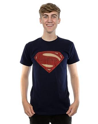 aa46b8cd Amazon.com: DC Comics Men's Superman Man of Steel Logo T-Shirt: Clothing