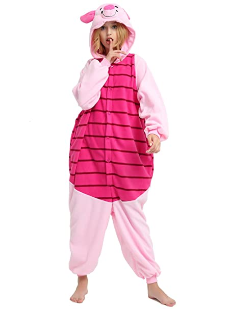 2b488b792 Amazon.com  Piglet Onesie Adult. Pig Costume Kigurumi Pajama For ...