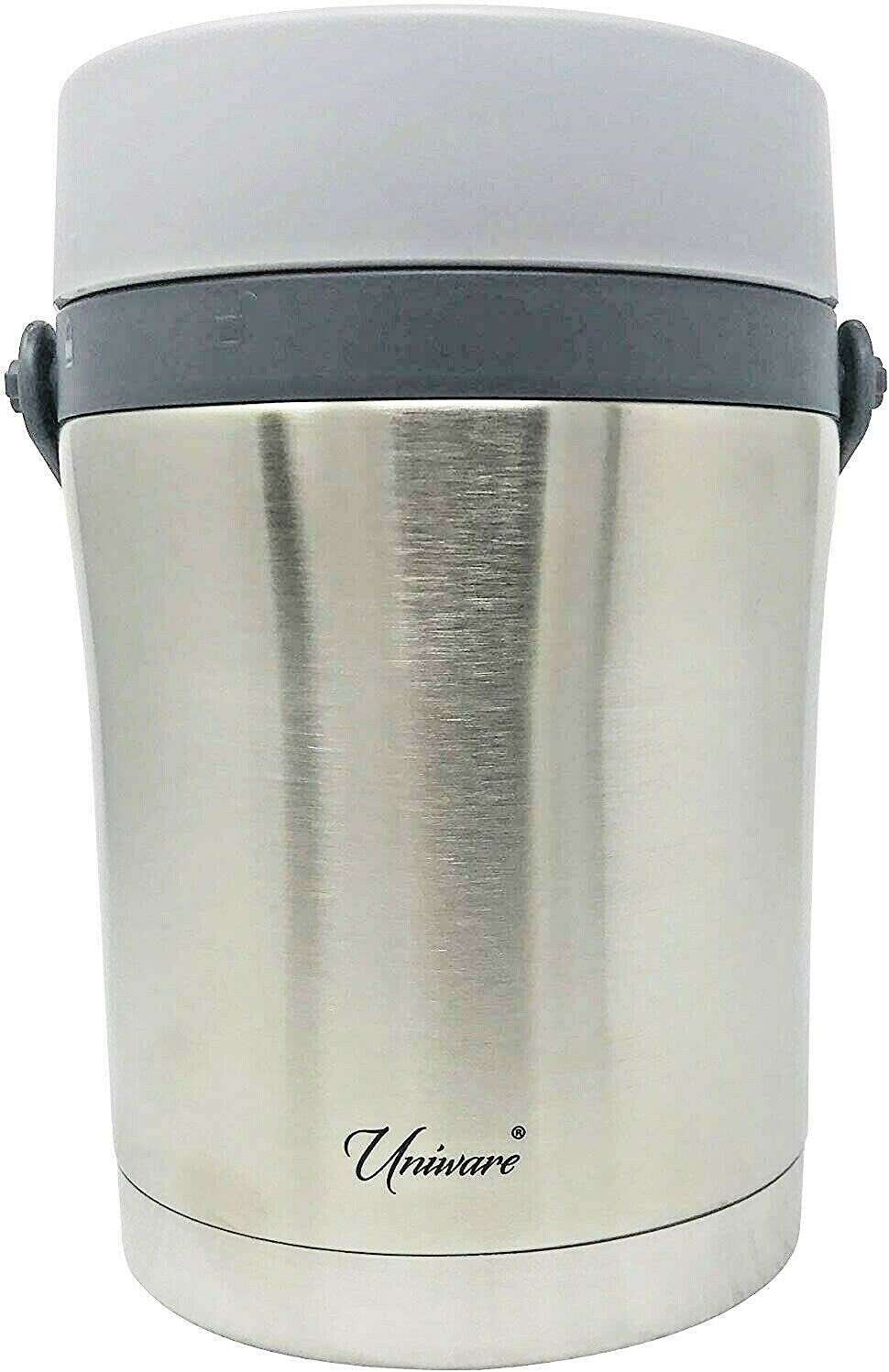 Stainless Steel Vacuum Insulated Food Container Lunch Box,1700 ml, Silver