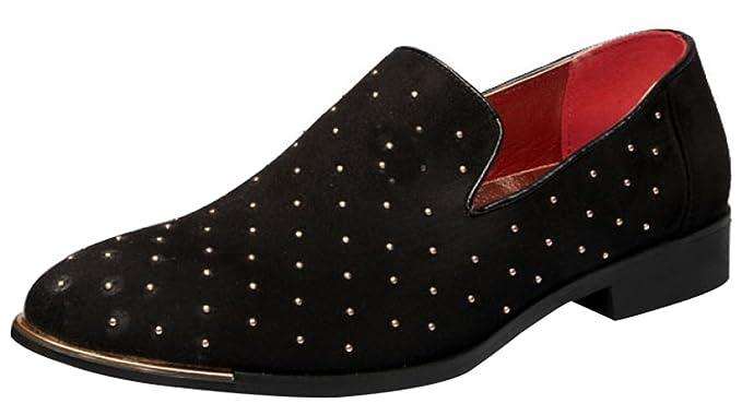MYXUA Zapatos De Hombre Mocasines Con Cordones De Cuero Zapatos Slip-on Zapatos Para Caminar Negro Fiesta De Boda Azul Evenin,Black-48EU: Amazon.es: Ropa y ...