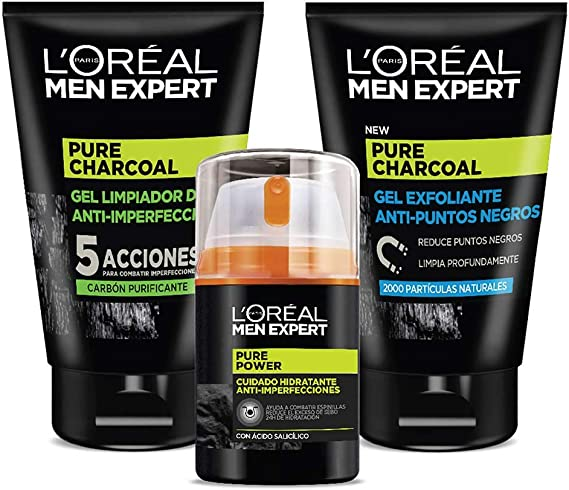 LOreal Paris Men Expert Pure Charcoal Gel Exfoliante P ...