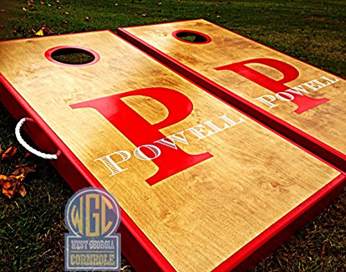 Monogrammed Custom Cornhole Board Set by West Georgia Cornhole