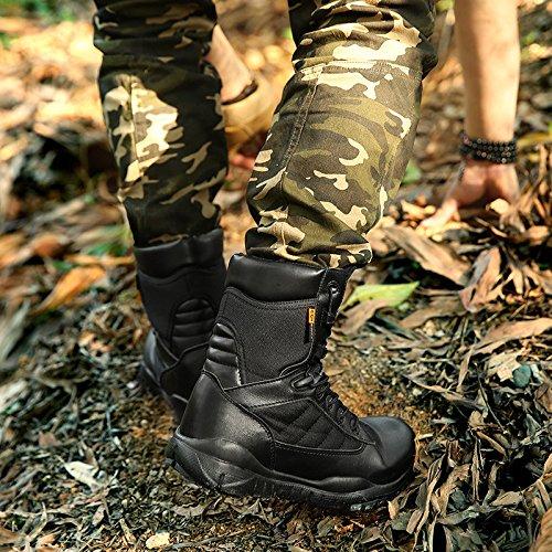 Uomo Black Deserto Scarpe Stivali Tattici Arrampicata Up da Impermeabili del High per Stivali Rise Lace ASJUNQ Stivali Leggero da Stivali Militari Trekking qI1ARRUw