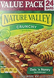 Nature Valley Oats \'N Honey, Value Pack, 0.74 oz, 24 ct
