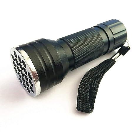 JullyeleESgant 21 LED Antorcha UV Luz 395nm Multifunción Linterna Ultravioleta Mascota Orina Detector de Manchas Escorpiones