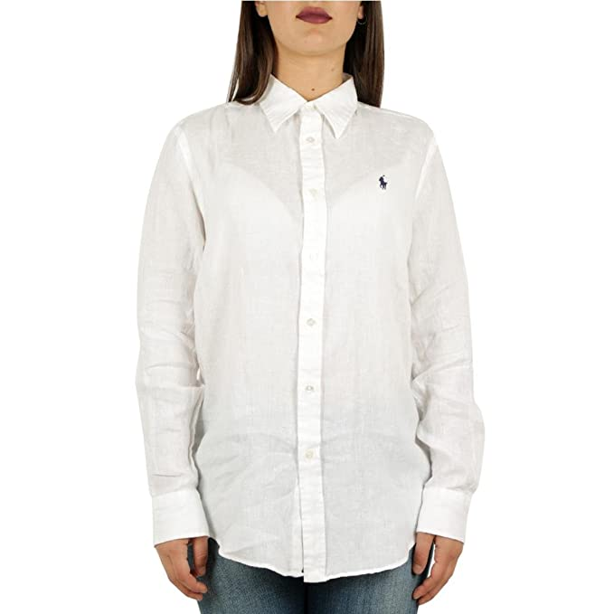 foto ufficiali 534b1 438ee Polo Ralph Lauren Camicia in lino Donna Mod. 211697461 L ...