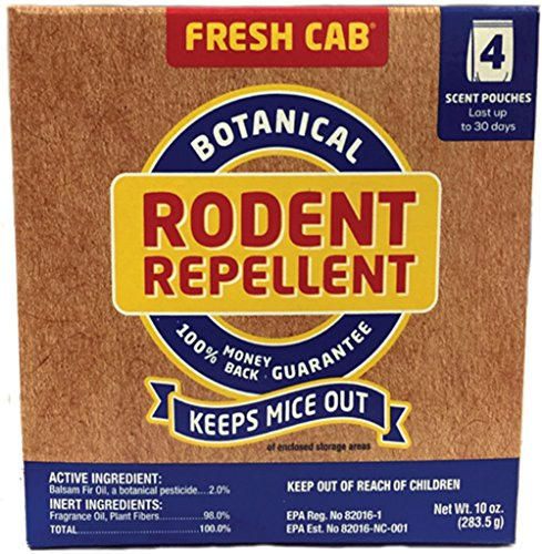 Fresh Cab Botanical Rodent Repellent 12 Scent Pouches - EPA Registered, Keeps Mice Out