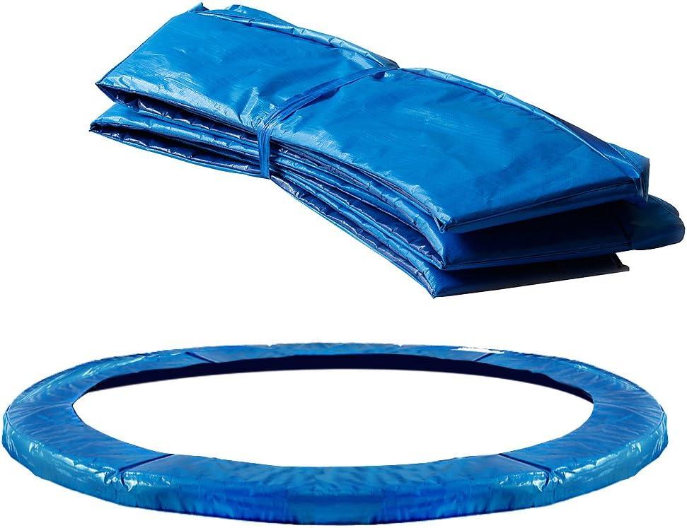 Monzana Deuba Cojín de protección Azul de PVC Cubierta para Cama elástica Borde resortes trampolín de 366 cm Exterior