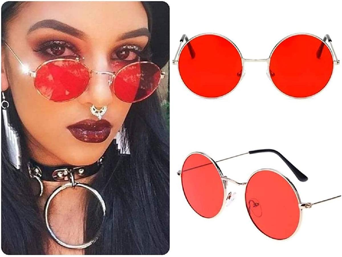 New OVERSIZE VINTAGE RETRO Style SUN GLASSES Rose Gold Fashion Frame Orange Lens