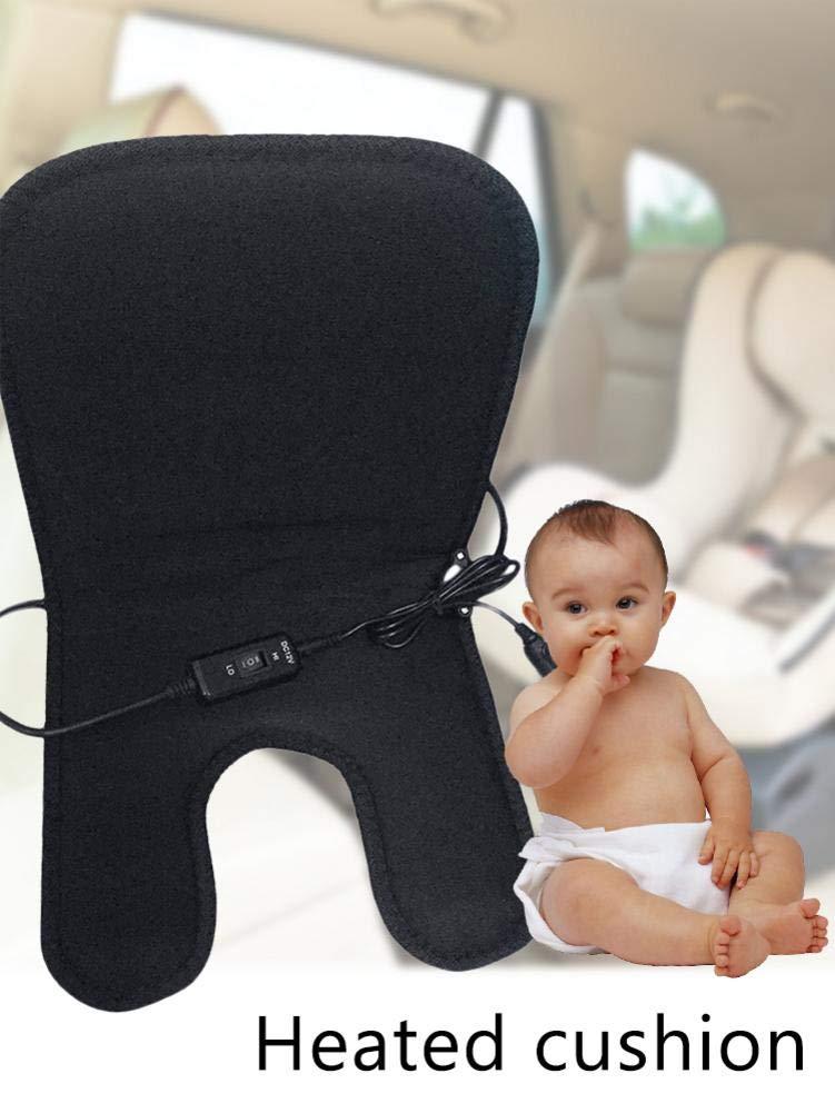 Babyauto Sitzheizung Bezug Pad Sicherheit Heizung Sitz Kissen F/ür Kinder Katurn Elektroauto Sitzheizung